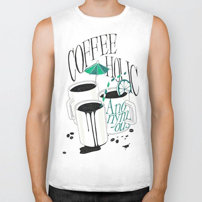 Us And Them: Coffeeholic Anonymous. Biker Tank