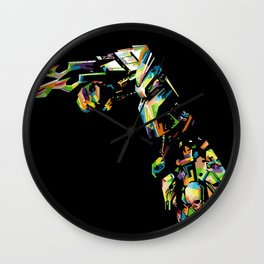 Predator in Anomali WPAP Wall Clock