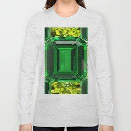 EMERALDS &  LIME GREEN PERIDOT GEMS BIRTHSTONES Long Sleeve T-shirt