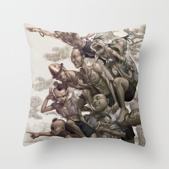 Ten Brothers Throw Pillow