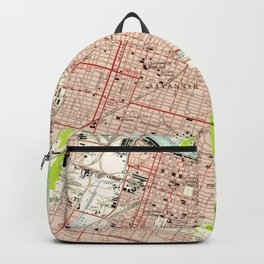 Vintage Map of Savannah Georgia (1955) Backpack