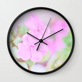 Soft Pinkness Texture Wall Clock