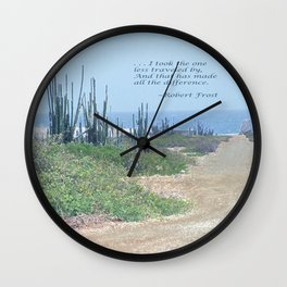 The Road Less Traveled (with quote) Wall Clock