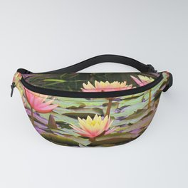 Sunrise Water Lilies Fanny Pack