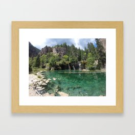 A Beautiful Day at Hanging Lake Framed Art Print