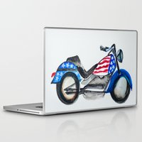 motorcycle Laptop & iPad Skins featuring Motorcycle by Aniko Levai