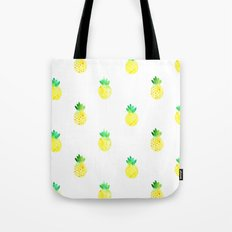 Watercolor Pineapple Pattern Tote Bag
