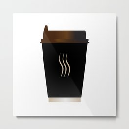 Paper Coffee Cup Metal Print