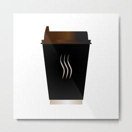Paper Coffee Cup Metal Print