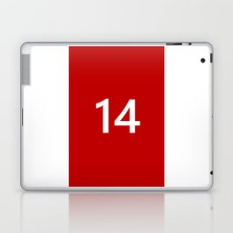 Legendary No. 14 in red and white Laptop & iPad Skin
