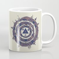 cycle Mugs featuring The Cycle by Hector Mansilla