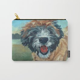 Wheaton Terrier Dog Portrait Carry-All Pouch