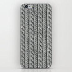 Grey Knit feeling iPhone & iPod Skin