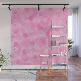 Pink Bubbles 1 Wall Mural
