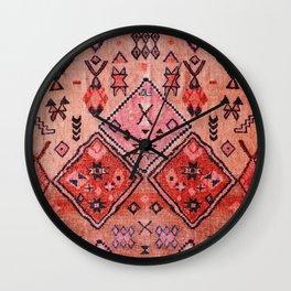 Epic Rustic & Farmhouse Style Original Moroccan Artwork  Wall Clock