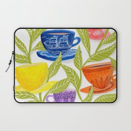 Tea Cups, Patterns, and Leaves Laptop Sleeve