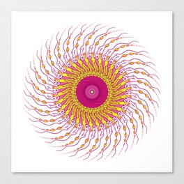 For when you enfold me in your complexities Canvas Print