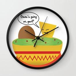 Guac Party Wall Clock