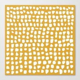 Dots / Mustard Canvas Print