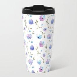 Blue watercolor flowers Travel Mug