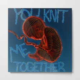Knitted Together Metal Print