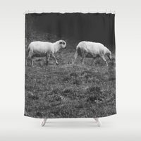 sheep Shower Curtains featuring Sheep by Pati Designs & Photography