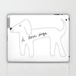I love dogs. Laptop & iPad Skin