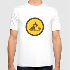 Are you talkin to me? Mens Fitted Tee White MEDIUM