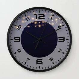 Modern string lights Wall Clock