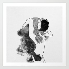 The courage of deeply love. Art Print