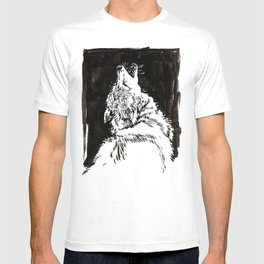 graphic wolf study T-shirt