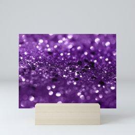 Purple Lady Glitter #1 #shiny #decor #art #society6 Mini Art Print