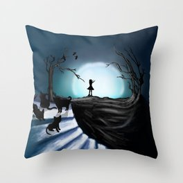 My Part to the Longest Illustration. Throw Pillow