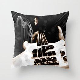 SMOKIN BASS Throw Pillow