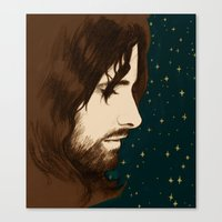 aragorn Canvas Prints featuring Aragorn by cos-tam