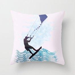 [mis]interpreting kiteboarding Throw Pillow