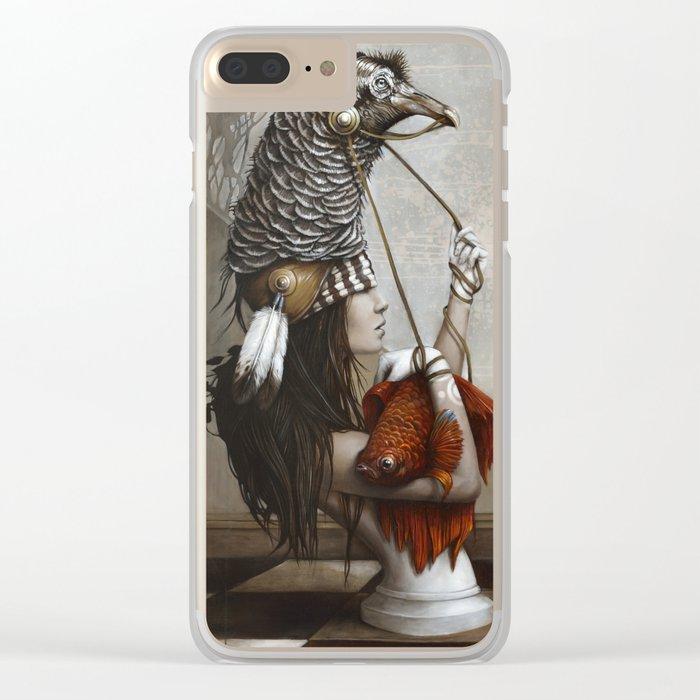 Les Cavalières Blanches Clear iPhone Case