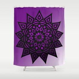 Purple Star | Tam Tam | Mandhala Shower Curtain
