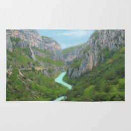 The gorges of Verdon (France) Rug