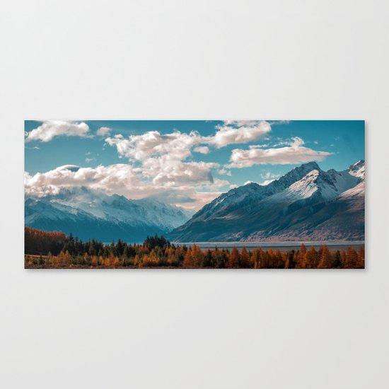 blue sky white clouds Canvas Print