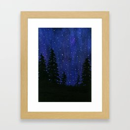 Twinkle, Twinkle, Stars Night Sky Painting Framed Art Print