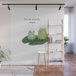 Kissing Frogs Wall Mural