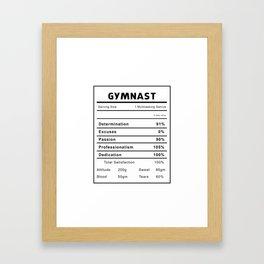 Gymnast Nutrition Ingredients Framed Art Print