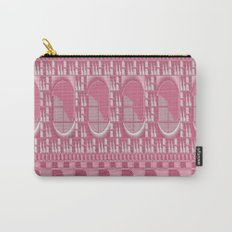 Rose Pink Geometric Abstract Carry-All Pouch