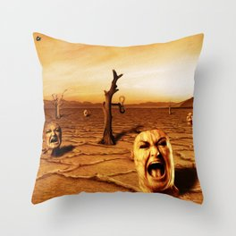 Gritos Throw Pillow
