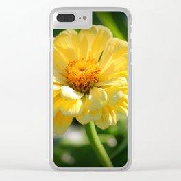 Sunlit Daisy Clear iPhone Case