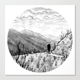 Found (Backpacking Angeles National Forest PCT) - Inktober 2017 Canvas Print