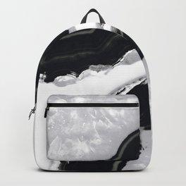 Gray Black Agate #2 #gem #decor #art #society6 Backpack