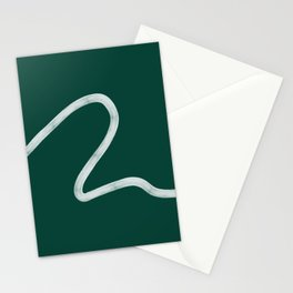 Kinda Wave in Emerald Stationery Cards
