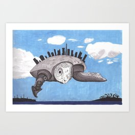 Cloud turtle Art Print